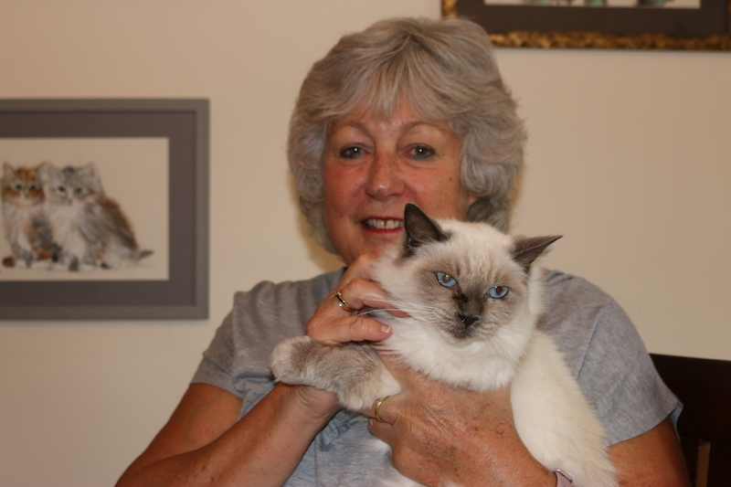 Liz and her RSPCA rescue cat, Muffin